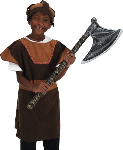 Charlie Crow Viking Tabard Fancy Dress Costume Age 6-9