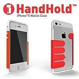 Felix iPhone5/iPhone5s専用ケース Felix HandHold マネークリップ ホワイト/レッド FB102-WHRD