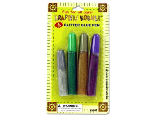 Glitter Glue Pen Set - Case of 72