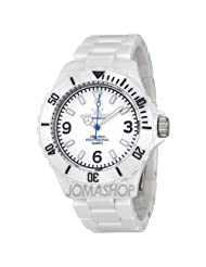 Toy Watch Fluo Ceramica White Dial Ceramic Unisex Watch CM01WH