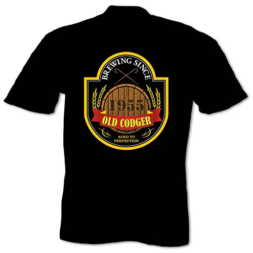 Bang Tidy Clothing Men'S Old Codger 1955 Birthday T Shirt Black Xxl