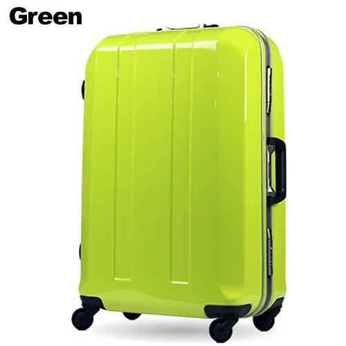 LEGEND WALKER スーツケース キャリーバッグ 4輪 TSAロック 旅行 ポリカーボネイト100% 大型キャスター仕様 フレームタイプ 92.3L (グリーン)