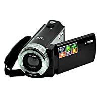 PowerLead PLD003 DV C8 16MP High Definition Digital Video Camcorder Dv DVR 2.7'' TFT LCD 16x Zoom Hd Video Recorder Camera 1280 x 720p ,Black
