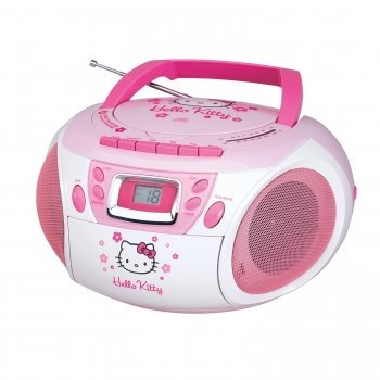 Exclusive Hello Kitty KT2028A Stereo CD Boombox with Cassette Player/Recorder and AM/FM Radio By SPECTRA