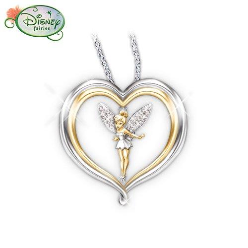 tinker bell believe pendant necklace disney jewelry by