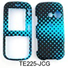 TEXTURE CASE FOR LG Rumor 2, Cosmos, Banter, Script HARD COVER BLUE DOTS TE225-JCG Rumor 2, Cosmos, Banter, Script, LX265 Alltel, Sprint, Verizon, U.S Cellular, Virgin Mobile