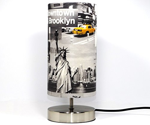 new-york-lamp-lampshade-light-shade-modern-chrome-table-bedside-bedroom-desk-lamp-light-yellow-taxi-