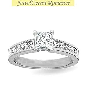 1 00 carat discount engagement ring with princess