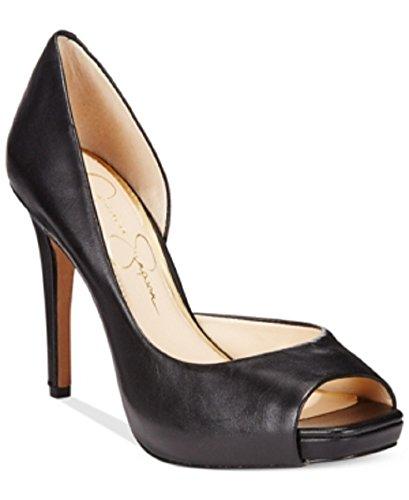 Jessica Simpson Jaselle dOrsay Platform Pumps Womens Shoes, Black, 5.5M