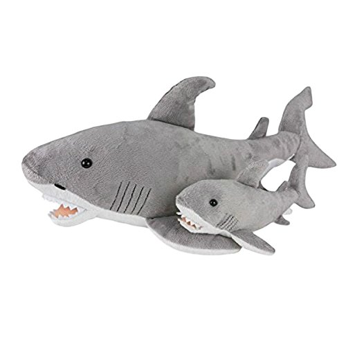 Goblin Shark Toys : Birth of life great white shark with baby plush toy quot long