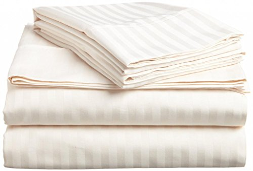 Spectacular  Detail shop Thread Count Italian Finish Egyptian Cotton Bed Sheets by Satisfaction linen Piece Duvet Set Sheet Set deep Pocket RV King size Ivory