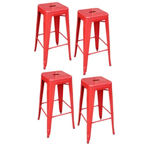 AmeriHome Metal Bar Stool Set 30 Inch Red Set of 4  : 41NqGMRAgdL from www.furnituressale.com size 500 x 500 jpeg 30kB