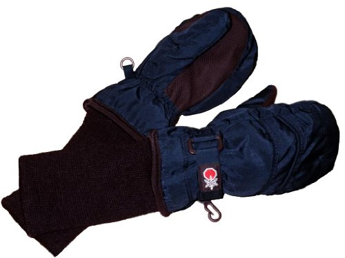 SnowStoppers Kid's Waterproof Stay On Winter Nylon Mittens Small / 1-3 Years Navy blue