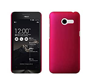 Wow Rubberized Feather Finish Matte Hard Protective Case For Asus Zenfone 4 A400cg - Dark Pink