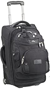 Buy High Sierra 22 Wheeled Carry-On Luggage with Removable DayPack-Black by High Sierra