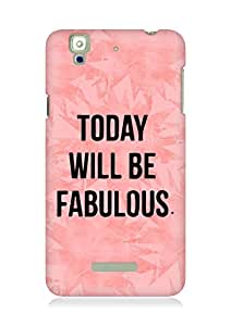 AMEZ today will be fabulous Back Cover For YU Yureka