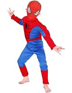 Rubies - Disfraz infantil de Spiderman con pecho musculoso (5-7 años)