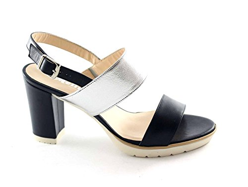 MELLUSO S751 bu notte scarpe donna sandalo tacco cinturino fasce 39