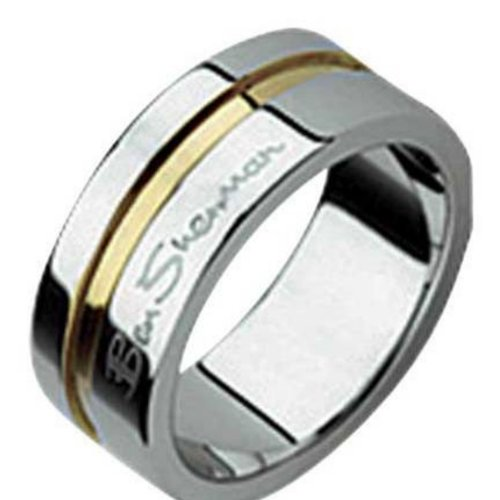 BEN SHERMAN MENS RING SIZE R - GENTS 2 TONE RING