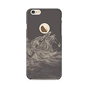 Motivatebox-Apple Iphone 6/6s with hole cover-Roaring Lion Polycarbonate 3D Hard case protective back cover. Premium Quality designer Printed 3D Matte finish hard case back cover.