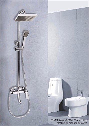 IDG Single Lever Square Shower Column Shower Panel 3 in 1