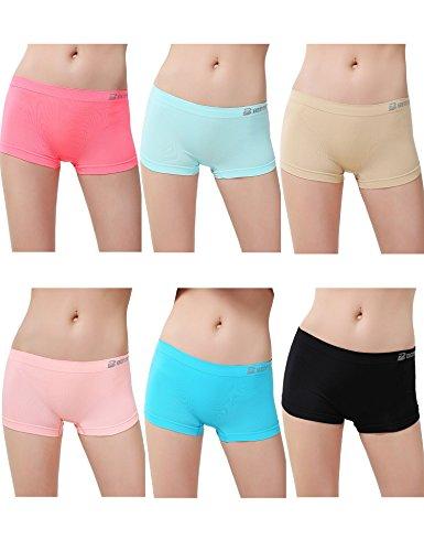 womens-6-pack-sports-boy-short-cut-hipster-panties-seamless-boxer-briefs-underwear-l-xl