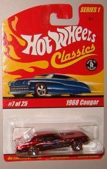 Hot Wheels Classic Series 1: 1968 Cougar #7 of 25 1:64 Scale Collectible Die Cast Car with a Special Spectraflame Paint - 1