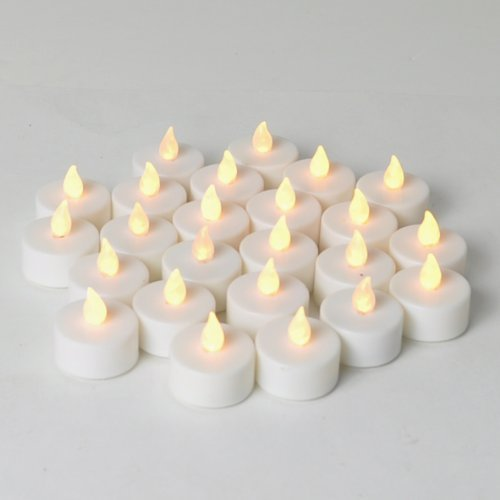 Instapark LCL Series Battery-powered Flameless LED Tealight Candles, Pack of 24