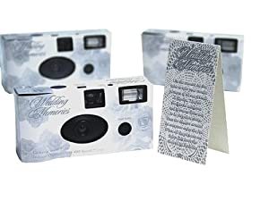 30 pcs Silver ROSE Wedding Disposable Camera Single Use