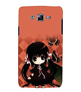 printtech Cute Beautiful Girl Butterfly Back Case Cover for Samsung Galaxy Core Prime G360