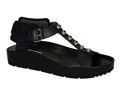 Sandali bassi Balenciaga donna in pelle nero - Codice modello: 372862 WAUW1 4160 - Taglia: 41 IT