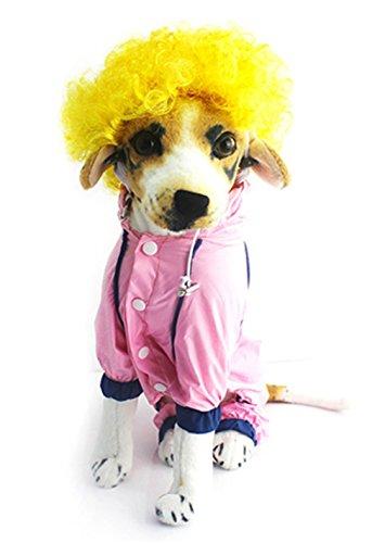 Pet Parrucca di Natale di Halloween Fashion riccia cucciolo divertente Gatto Cane Party (giallo)