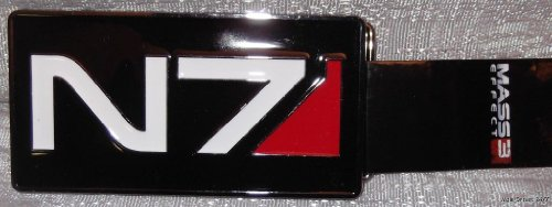 Licensed Mass Effect 3 N7 Game Logo Metal BELT BUCKLE