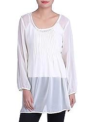 Iande White Color georgette top