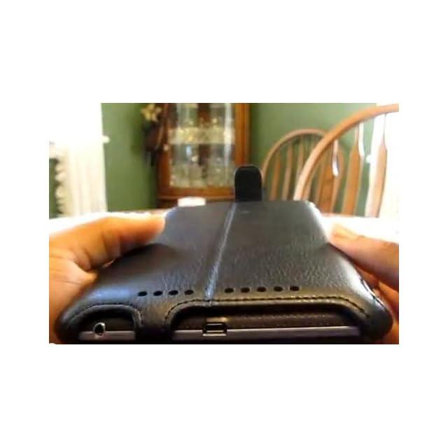 i Blason Auto Sleep / Wake Google Nexus 10 Inch Tablet Slim folio Book Shell Case With Built in Stand Hard Back Cover with Stylus Loop and Elastic Hand Strap (Bonus Stylus Pen Included) 16GB 32GB 64GB Three Year Warranty (Black)