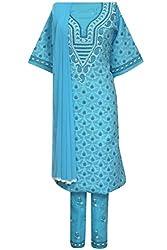 ADA Equisite Lucknow Chikankari Ethnic Wear Unstitched Suit Piece A93103