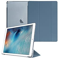 Smart Cover for Apple iPad Pro, DMG Translucent Back Flip Case for Apple iPad Pro 2015 Edition (Pebble Blue)