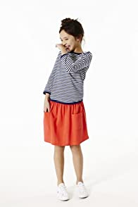 Girl's Pique Skirt With Pockets