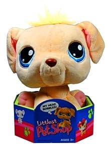 Hasbro Year 2005 Littlest Pet Shop 7 Inch Tall Bobble Head Pets Plush Toy Figure - Golden Retriever Puppy Dog (51424)