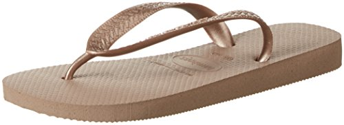 Havaianas Top metallic rose gold, Infradito donna, Oro, 37/38 EU (35/36 BR)