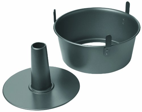 Chicago Metallic Professional Non-Stick 2-Piece Angel Food Cake Pan with Feet, 9.5-Inch