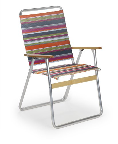 Telescope Casual Easy In and Out High Back Folding Beach Arm Chair, Techno