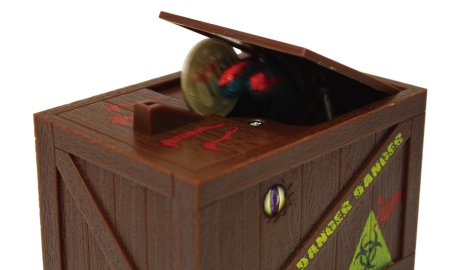 Monster in Box Coin Bank, Flashing Eye, Money Box Devil Finger Steal Coins - 1