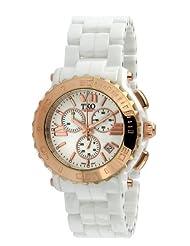 TKO ORLOGI Women's TK581-WRG Genuine Ceramic White Rose Gold Multifunction Watch