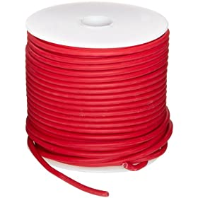 "GXL Automotive Copper Wire, Red, 18 AWG, 0.0403"" Diameter, 100' Length (Pack of 1)"