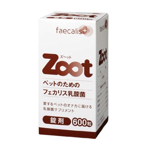 ペット用乳酸菌食品 Zoot 錠剤600粒1粒に333億個 の乳酸菌を配合
