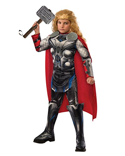 Kid's Deluxe Thor Avengers 2 Costume And Hammer Bundle