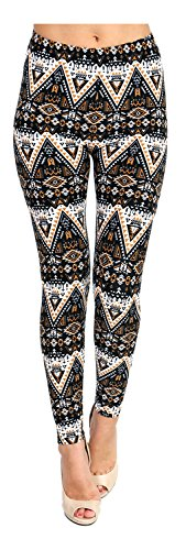 Printed Leggings (Striking Gold)