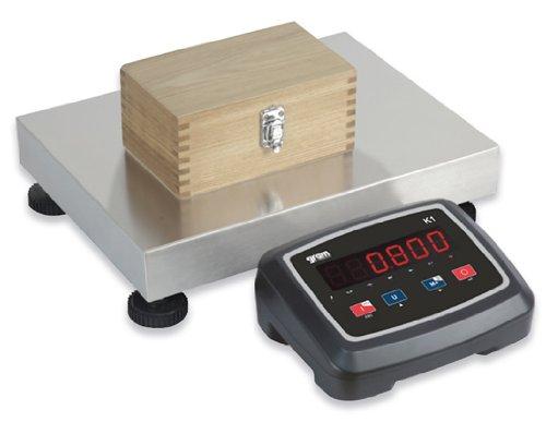Balance industrielle très robuste inox - capacité : 60kg lecture à 10g - grand plateau de 400 x 300 cm