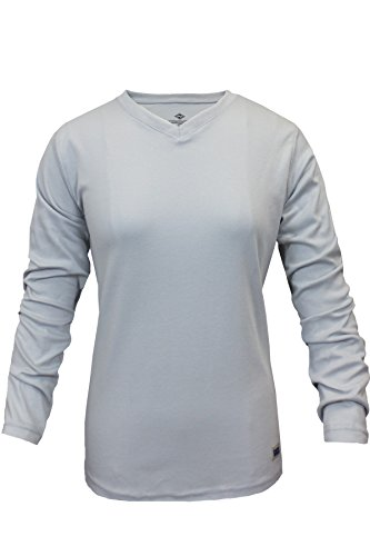 National Safety Apparel C54PGLSW2X Women's FR Classic Cotton Long Sleeve T-Shirt, 100% FR Cotton, XX-Large, Gray